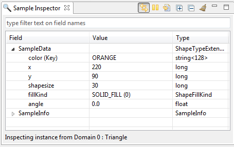 Sample inspector tree view