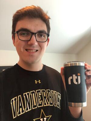 Caption - Joey models RTI and Vanderbilt swag simultaneously.