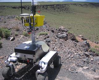 The K10 robot scouted Black Point Lava Flow (Arizona)