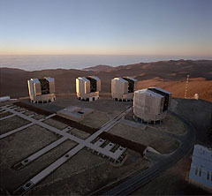 Photo of Very Large Telescope Array