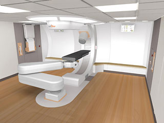 Rendering of the inside of the Monarch250 treatment room