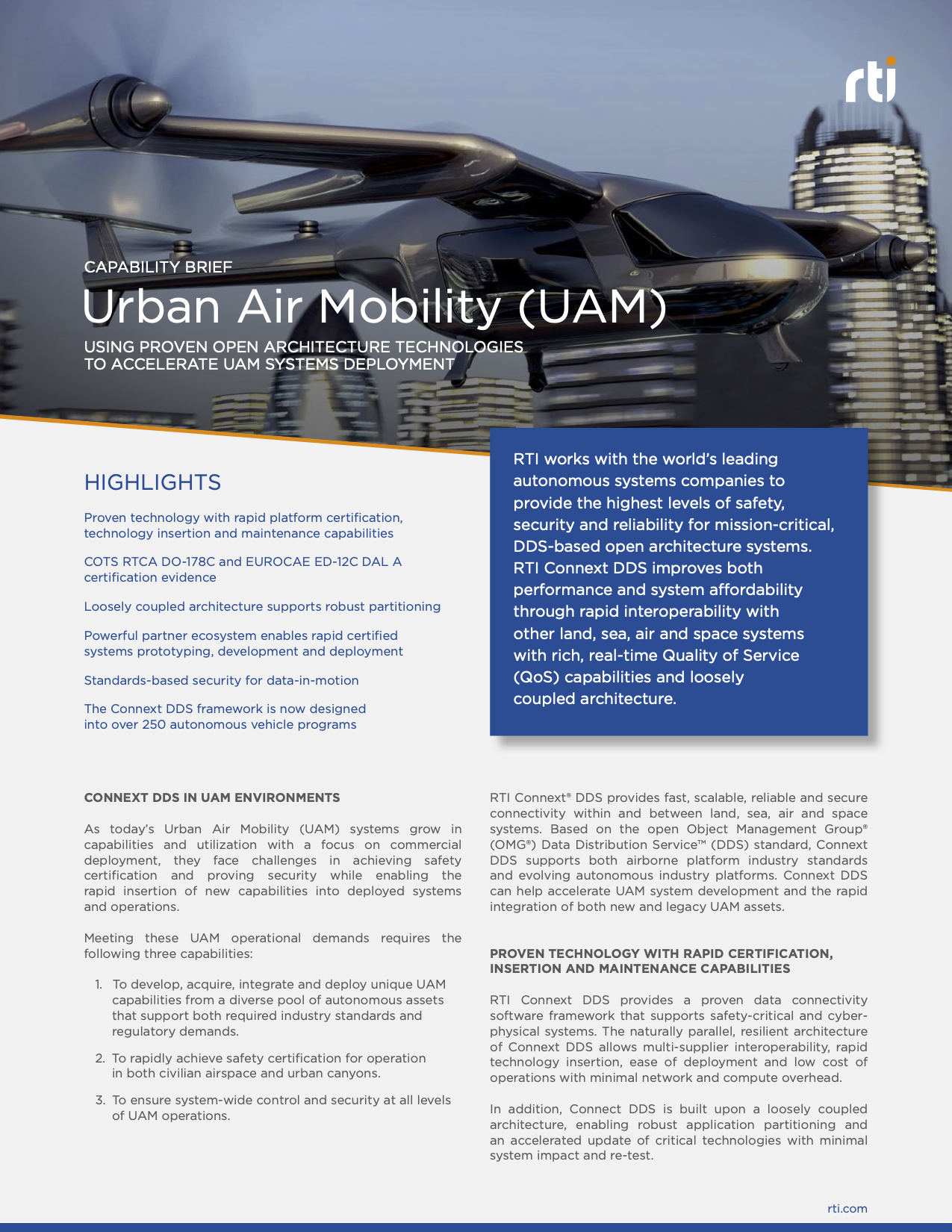 rti-capability-brief-urban-air-mobility