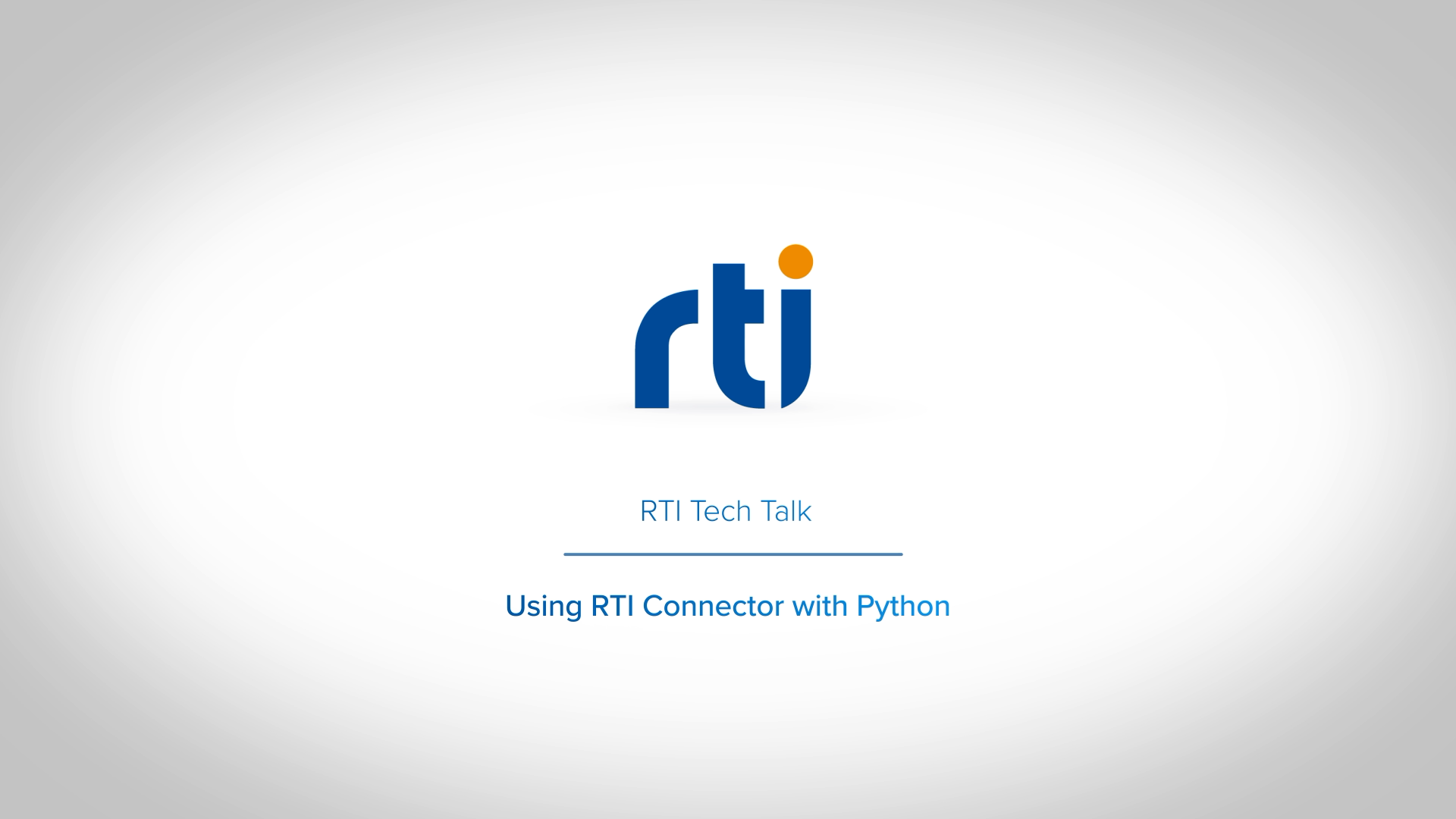 Using RTI Connector with Python